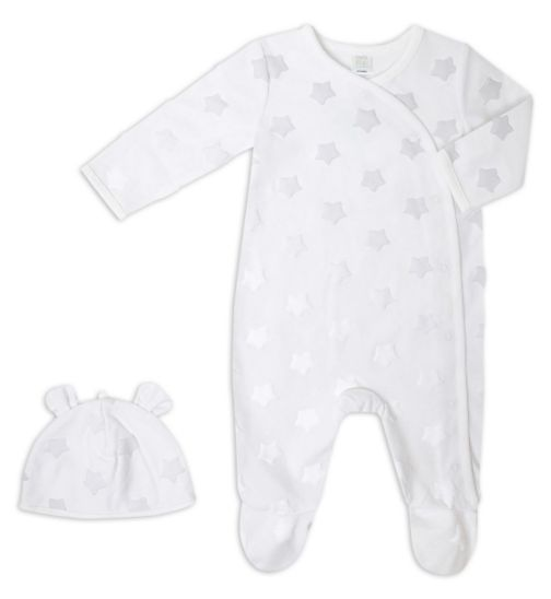 Mini Club Baby Unisex All in One and Hat Star