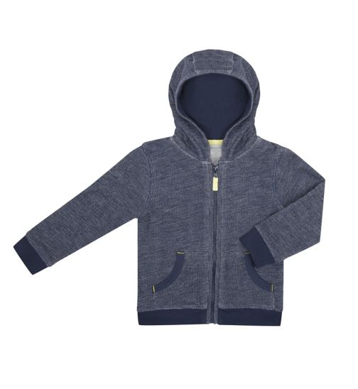 Mini Club Boys Zip Up Hoodie Blue