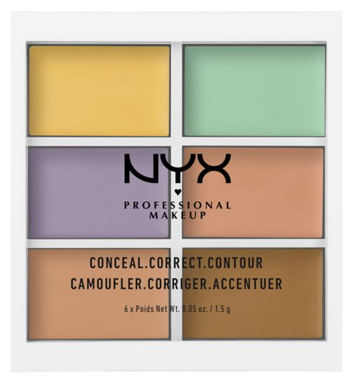 NYX Professional Makeup 3c Palette - Color Correcting Cream Concealer