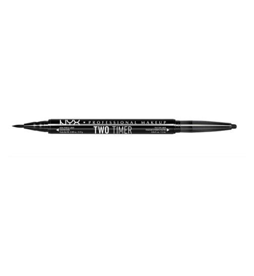 NYX Professional Makeup Two Timer Dual Ended Eyeliner - Jet Black