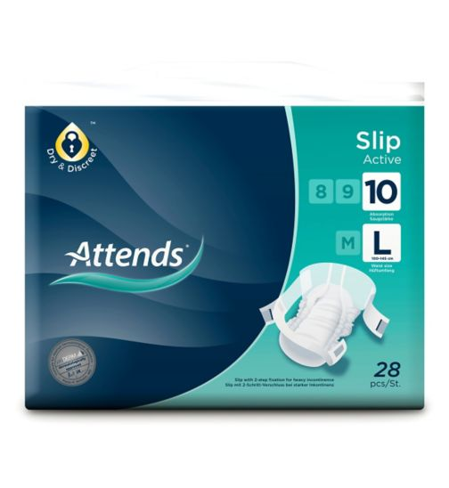 Attends Slip Active 10 Large - 28 slips