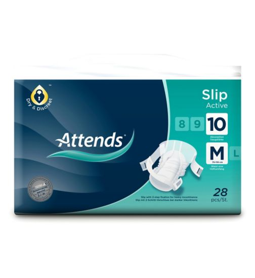 Attends Slip Active 10 Medium - 28 slips