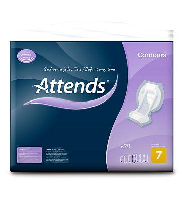 Attends Contours Regular 7 - 28 pads