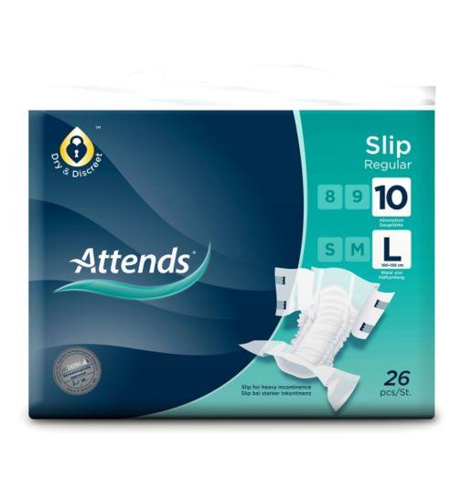 Attends Slip Regular 10 Large - 26 slips