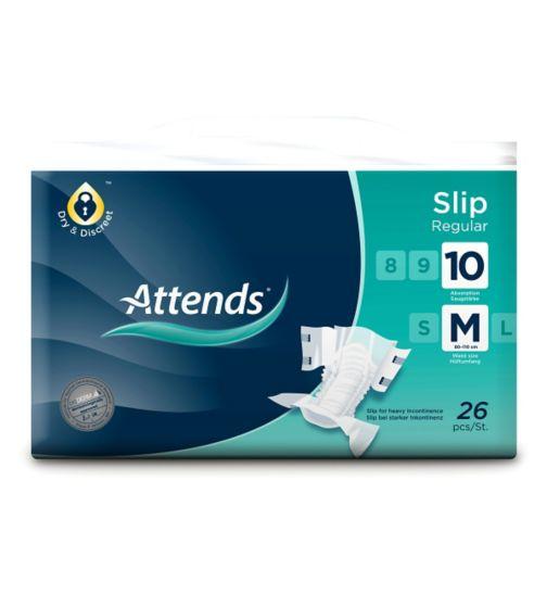 Attends Slip Regular 10 Medium - 26 slips