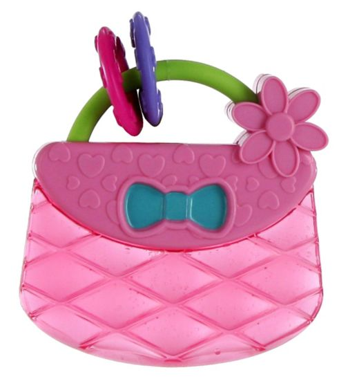 Bright Starts Pretty In Pink Carry & Teethe Purse Teether