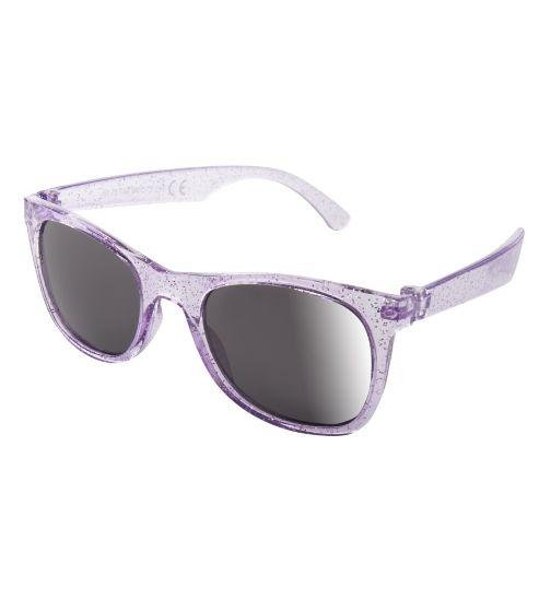 Boots Kids Girls Purple Glitter Wayfarer Sunglasses