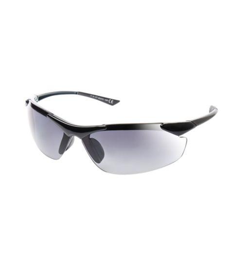 Boots Active Black Sports Wrap Semi-Rimless Sunglasses