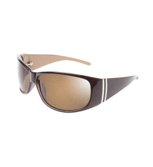 Boots Womens Polarised Brown Wrap Sunglasses