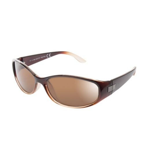 Boots Womens Polarised Brown Small Wrap Sunglasses