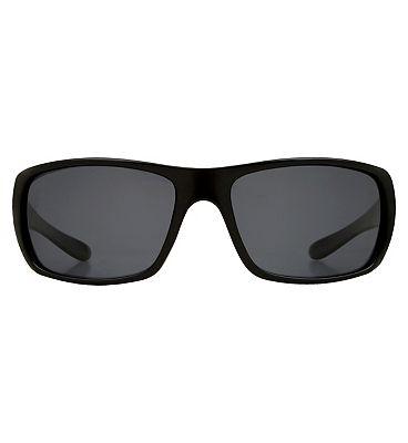 Boots Mens Polarised Sunglasses - Black Frame