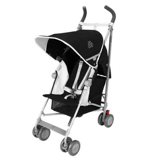 Maclaren Globetrotter Black/White Stroller