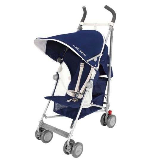 Maclaren Globetrotter Stroller - Medieval Blue/White