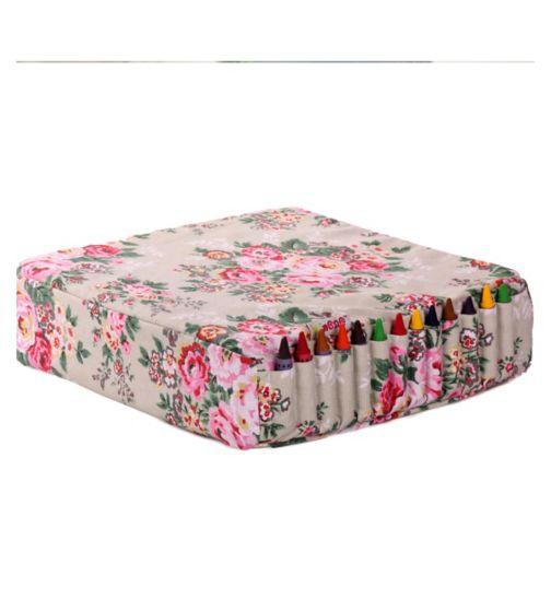 Minene Booster Cushion-Cream Flowers