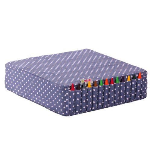 Minene Booster Cushion- Blue Spot