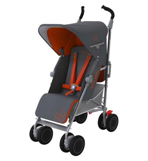 Maclaren Techno XT Stroller - Charcoal/Marmalade