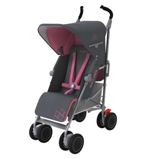 Maclaren Techno XT Stroller - Charcoal/Primrose