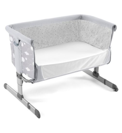 Chicco Next 2 Me Side-Sleeping Crib circles