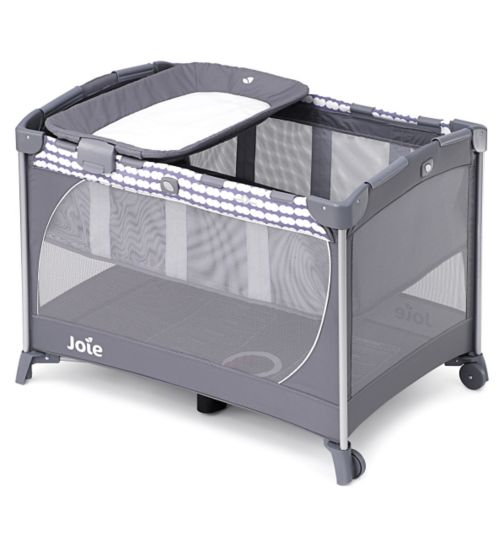 Joie Commuter Change Travel Cot - Cloud