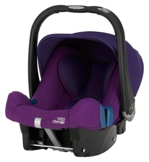 Britax Römer BABY-SAFE PLUS SHR II Group 0+ Car Seat - Mineral Purple