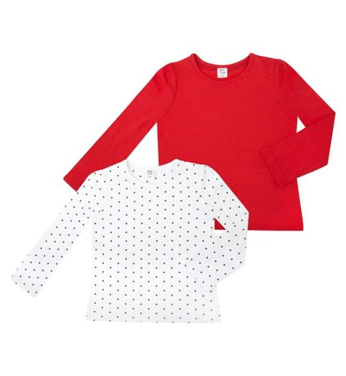 Mini Club Girls Long Sleeve Tops 2 Pack