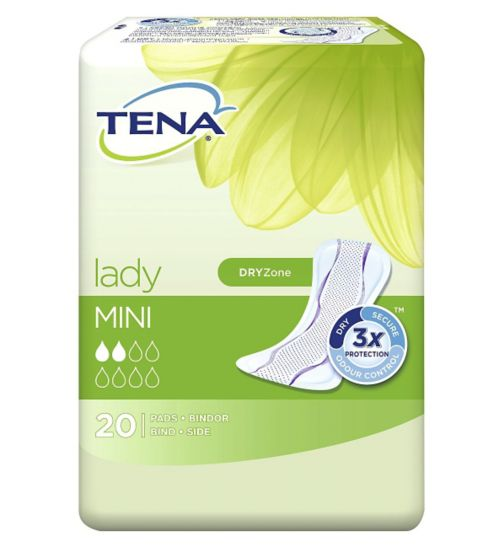 TENA Lady Mini - 200 Pads (10 x 20 pads);TENA Lady Mini Pads - 20 pack;Tena Lady Mini 20 Towels