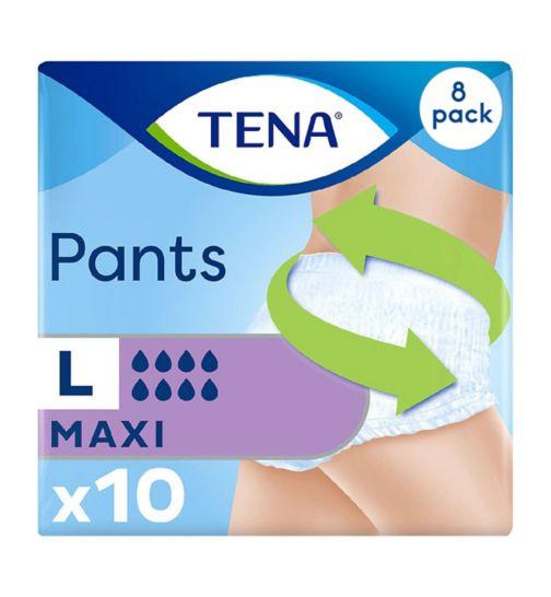 TENA Pants Maxi Large - 10 Pants;TENA Pants Maxi Large - 80 Pants (8 x 10);Tena Pant maxi large 10s