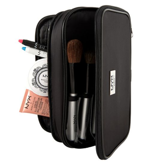 NYX Professional Makeup bag - Black large double zipper