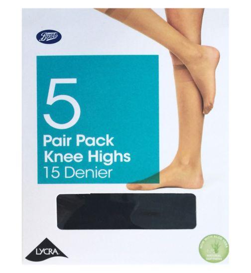 Basic Mulitpack Knee Highs Black O/S