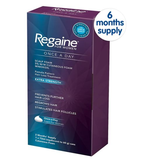 Regaine for Women Once a Day Scalp Foam 5% w/w Cutaneous Foam - 6 Months' Supply