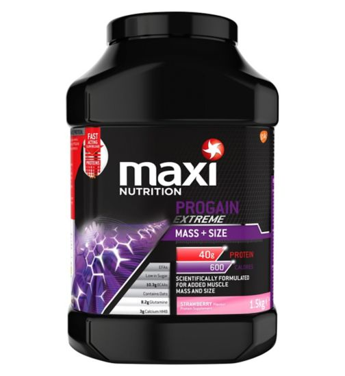 MaxiNutrition Progain Extreme Mass + Size Strawberry Flavour 1.5kg