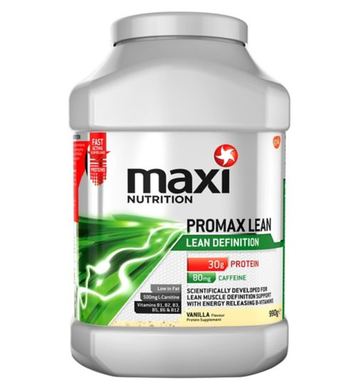 MaxiNutrition Promax Lean Definition Vanilla Flavour 990g