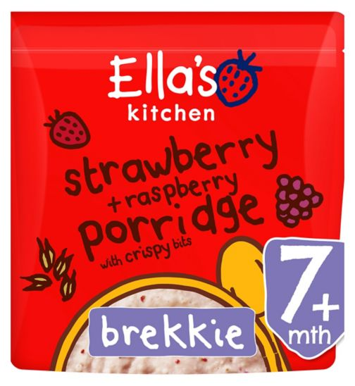 Ella's Kitchen Strawberry and Raspberry Porridge 175g 7+ months