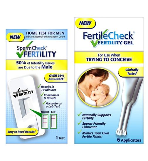 FertileCheck Bundle;FertileCheck Fertility Gel - 30ml;FertileCheck Fertility Gel - 30ml;Spermcheck® Male Fertility Test;Spermcheck® Male Fertility Test