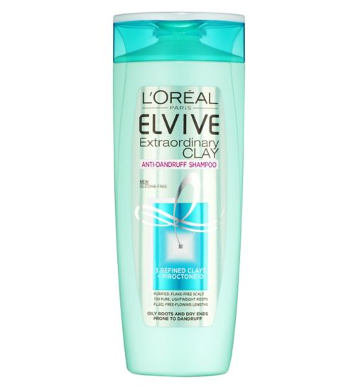 L'Oreal Paris Elvive Extraordinary Clay Anti-Dandruff Shampoo 400ml