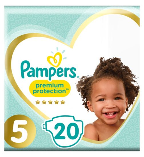 Pampers Premium Protection Size 5, 20 Nappies, 11-23kg