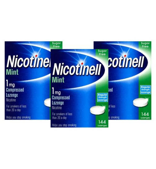 Nicotinell Mint 1mg Compressed Lozenge Nicotine 144 lozenges For Smokers of less than 20 a day;Nicotinell Mint 1mg Lozenge - 144 lozenges;Nicotinell Mint 1mg Lozenge - 432 lozenges