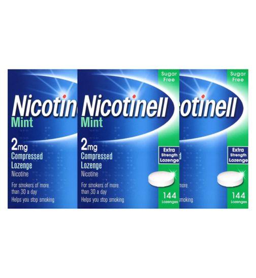 Nicotinell     mint 2mg       lozenge 14;Nicotinell Mint 2mg Lozenge - 144 lozenges;Nicotinell Mint 2mg Lozenge - 432 lozenges