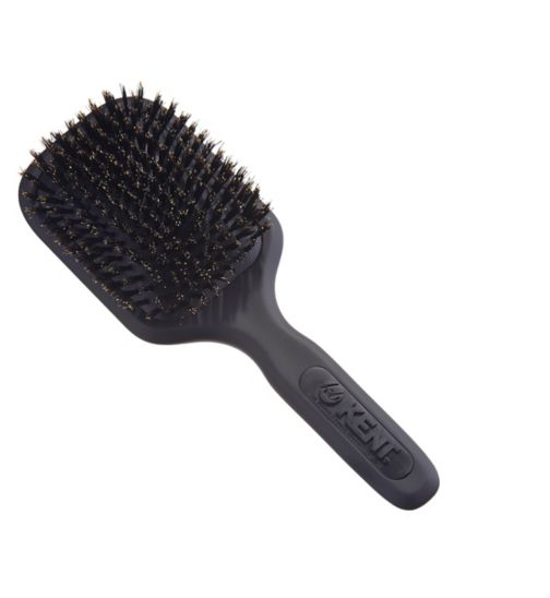 Kent Brushes AirHedz Medium pure bristle paddle brush black AH13G