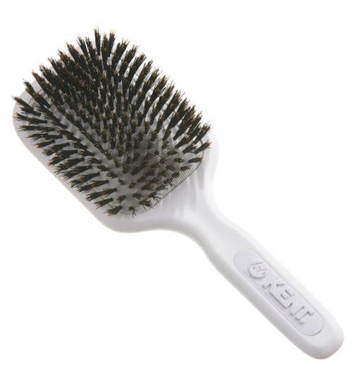 Kent Brushes AirHedz Medium pure bristle paddle brush white AH13W