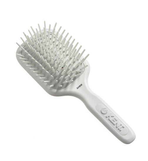 Kent Brushes AirHedz Medium fat pin paddle brush white AH8W