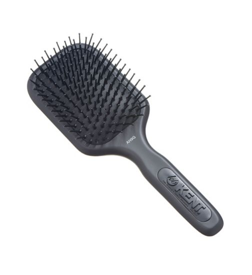 Kent Brushes AirHedz Medium fine pin paddle brush black AH9G
