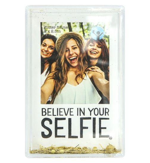 Shot2go Mini Glitter Selfie Frame White