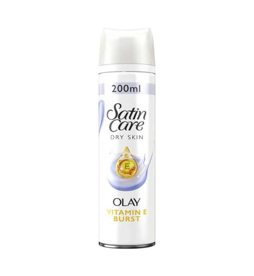 Gillette Satin Care with a touch of Olay Violet Swirl Shave Gel