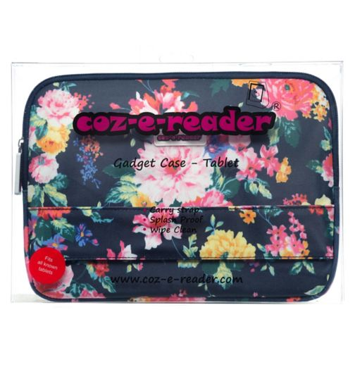 Coz-E-Reader Tablet Case Navy Floral