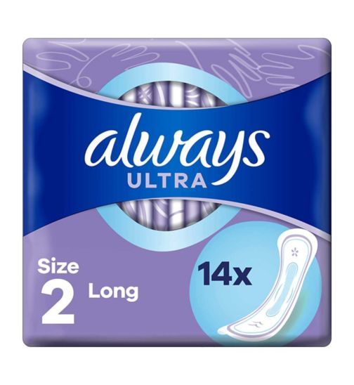 Always Ultra Long (Size 2) Sanitary Towels 14 Pads