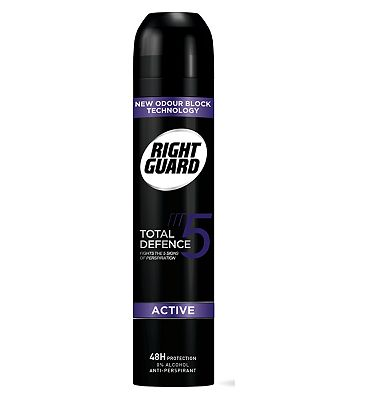 Right Guard Total Defence 5 Active Power Anti-Perspirant Deodorant 250ml