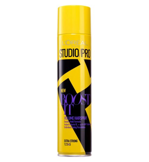L'Oreal Paris Studio Pro BOOST IT Volume Extra Strong Hairspray 400ml