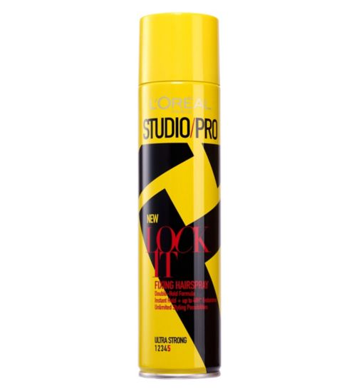 L'Oreal Paris Studio Pro LOCK IT Ultra Strong Fixing Hairspray 400ml
