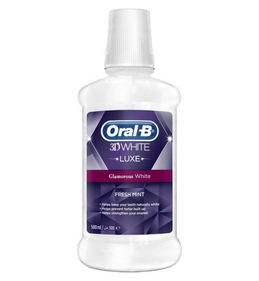 Oral-B 3D White Luxe Glamourous Shine Rinse 500ml